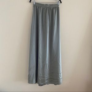 Sabo Skirt green silky maxi skirt